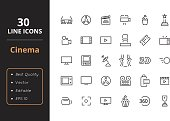 30 Cinema Line Icons