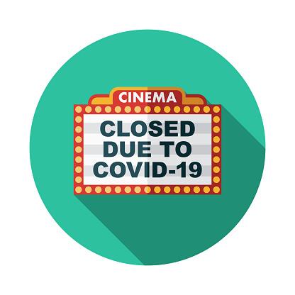 Cinema Marquee Closed Icon