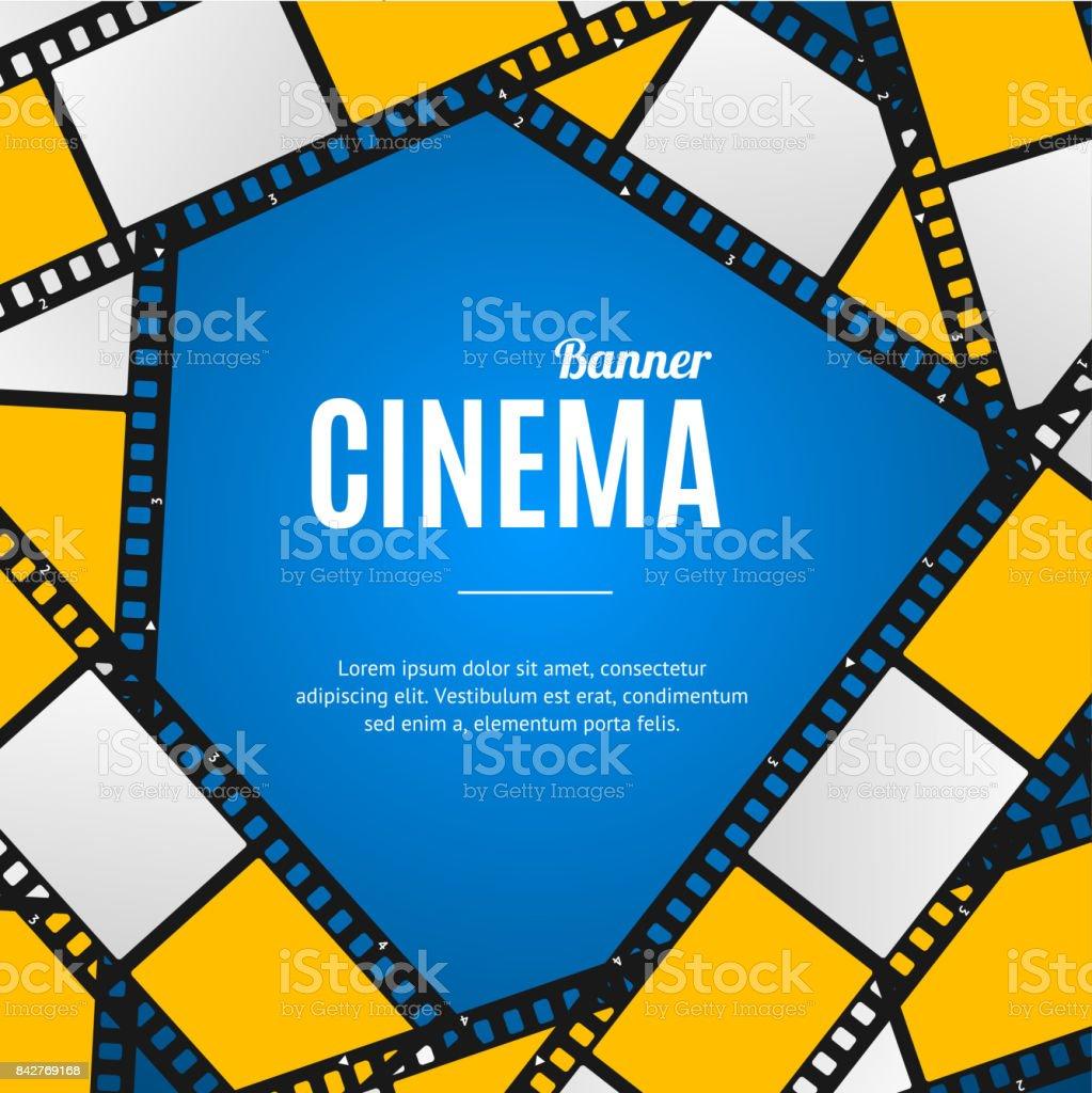 Cinema Movie Film Stripe or Reel Background. Vector vector art illustration