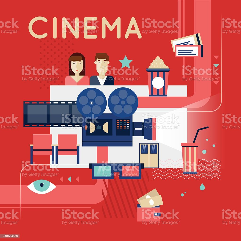 Cinema Movie Poster Concept Royalty Free Stock Vector Art