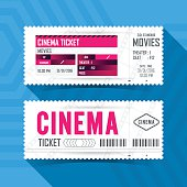 Cinema Movie Ticket Card modern element design