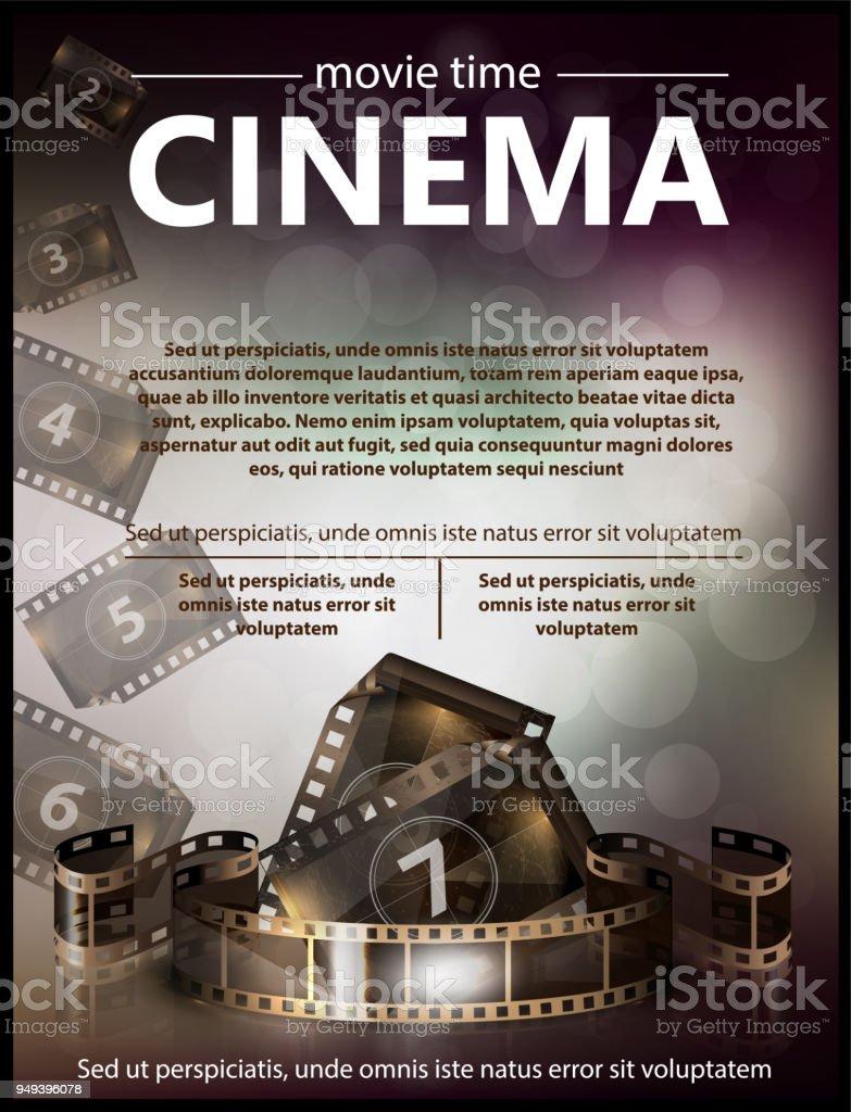 cinema movie vector poster design template stock vector art more