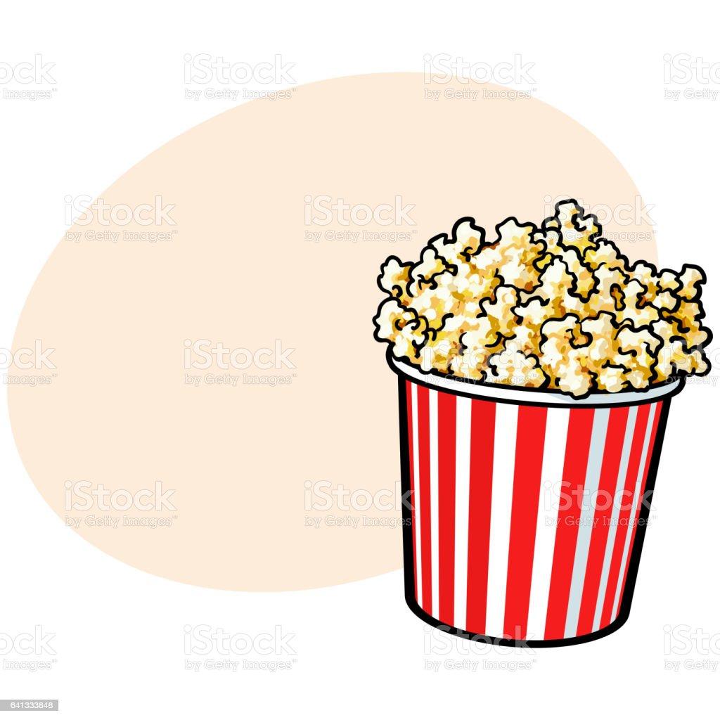royalty free popping popcorn clip art vector images illustrations rh istockphoto com clipart of popcorn bucket clipart of popcorn bag