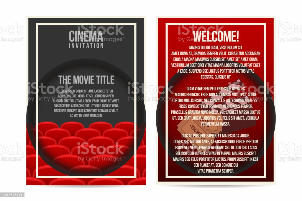 cinema poster invitation flyer template a4 size cinema seat rows