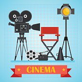cinema poster with camera