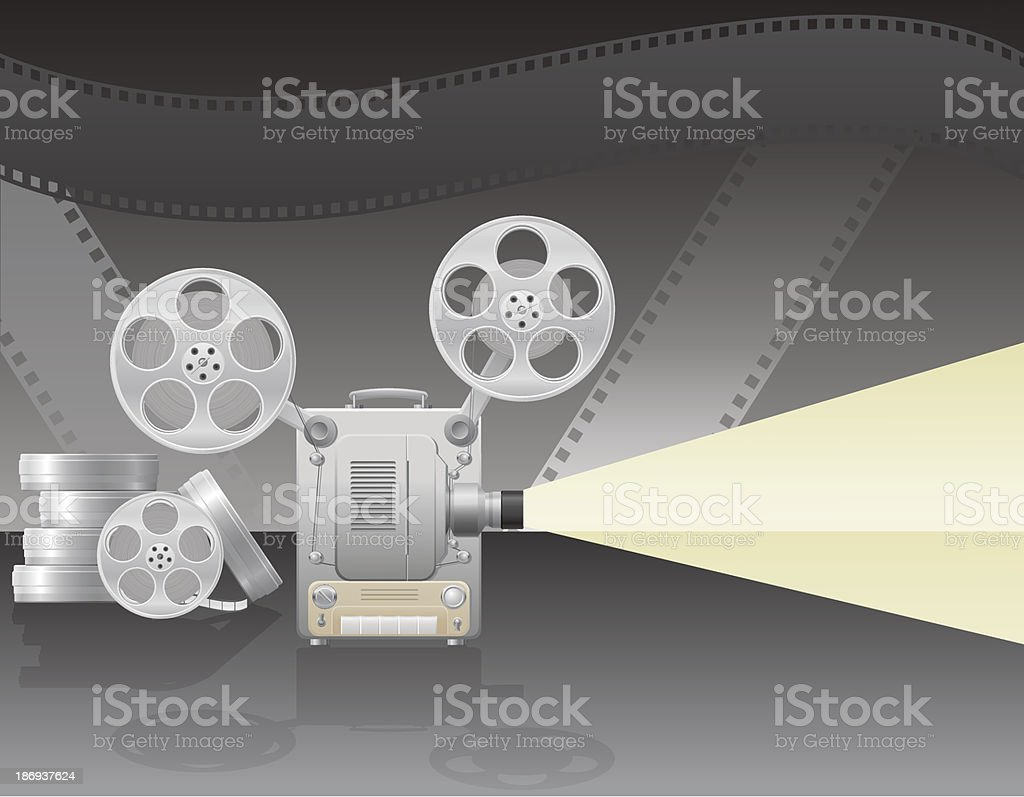 cinema projector vector illustration royalty-free stock vector art