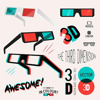 3D Cinema Retro Glasses Collection