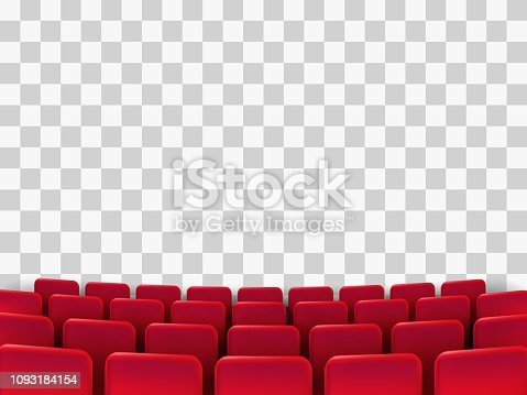 Cinema seats isolated on background. Vector illustration.