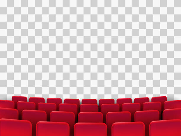 Cinema seats isolated Cinema seats isolated on background. Vector illustration. theatrical performance stock illustrations