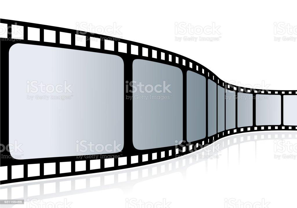 Vetores De Fita De Cinema Ilustracao Vetorial E Mais Imagens De