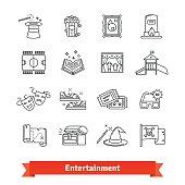 Cinema, theme park, galery, amusement events