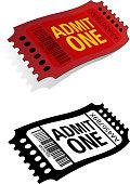 Cinema Ticket Admit One