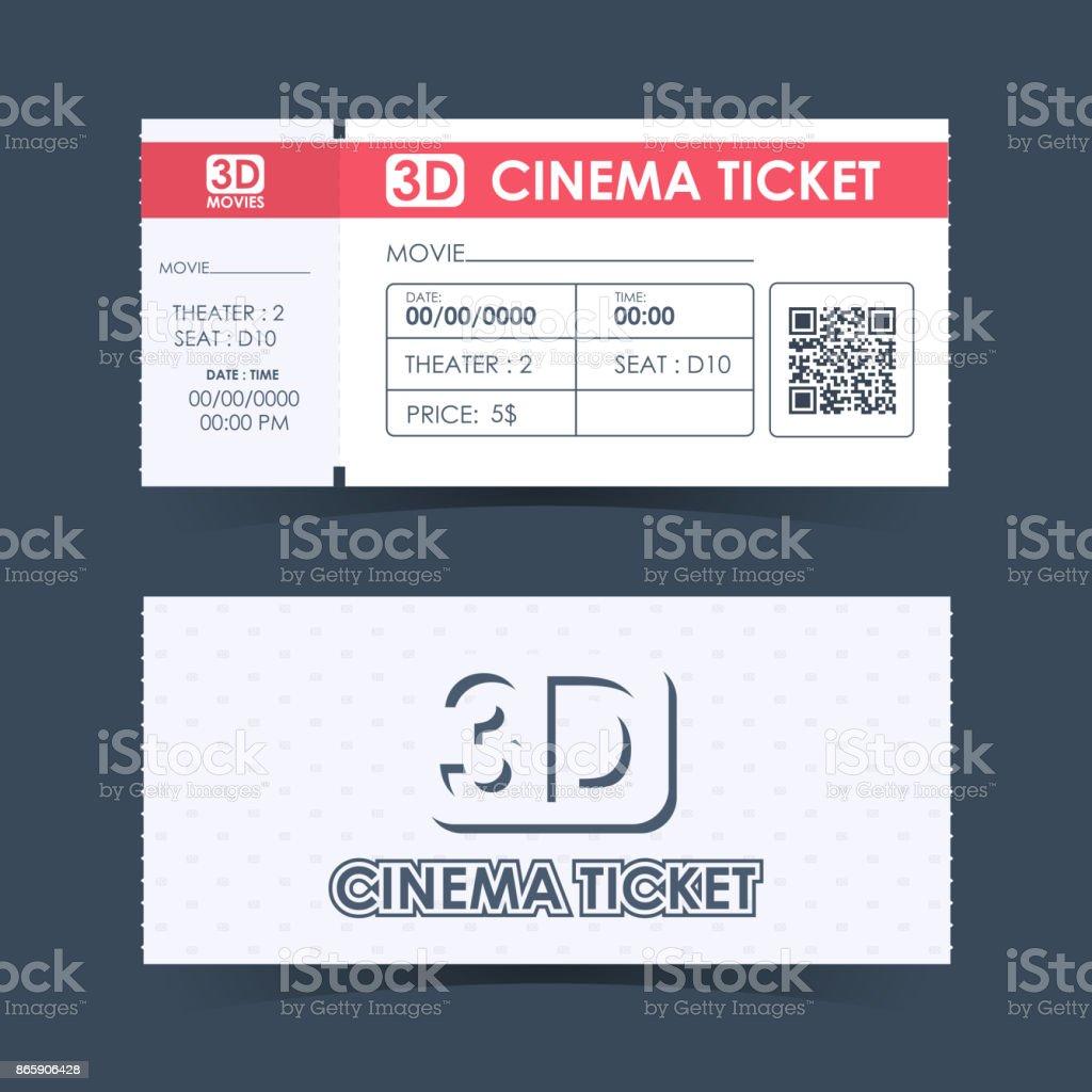 Kinoticket Card Element Vorlage Richtlinie Für Design ...