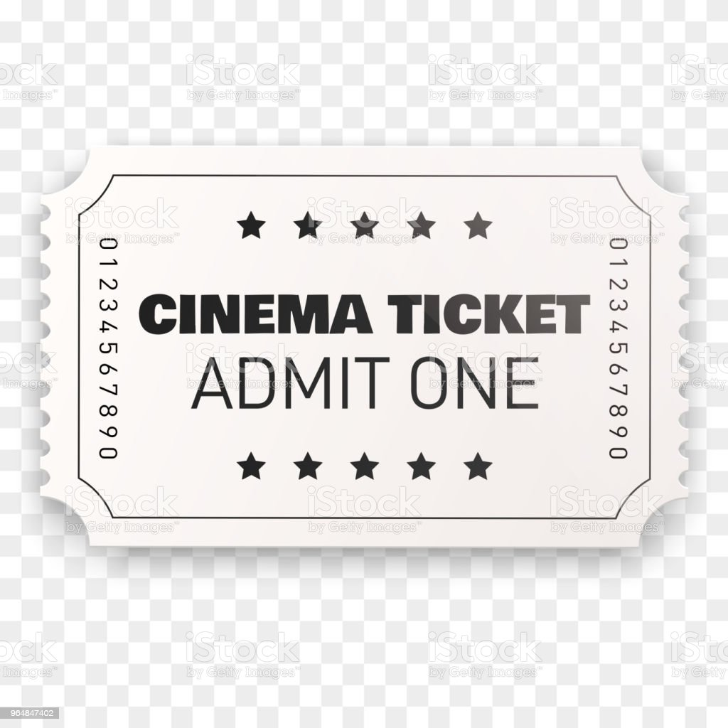 Cinema ticket isolated, Vector illustration royalty-free cinema ticket isolated vector illustration stock vector art & more images of accessibility