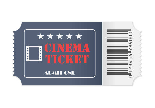 Cinema ticket Cinema ticket on a white background. Vector illustration. movie ticket stock illustrations