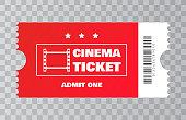 Cinema ticket. Vector illustration