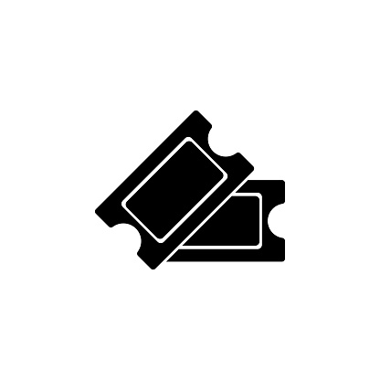 cinema tickets  icon. Signs and symbols can be used for web, logo, mobile app, UI, UX