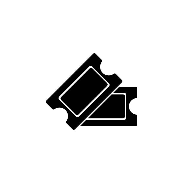 stockillustraties, clipart, cartoons en iconen met cinema tickets icoon. de tekens en de symbolen kunnen voor web, embleem, mobiele app, ui, ux worden gebruikt - ticket