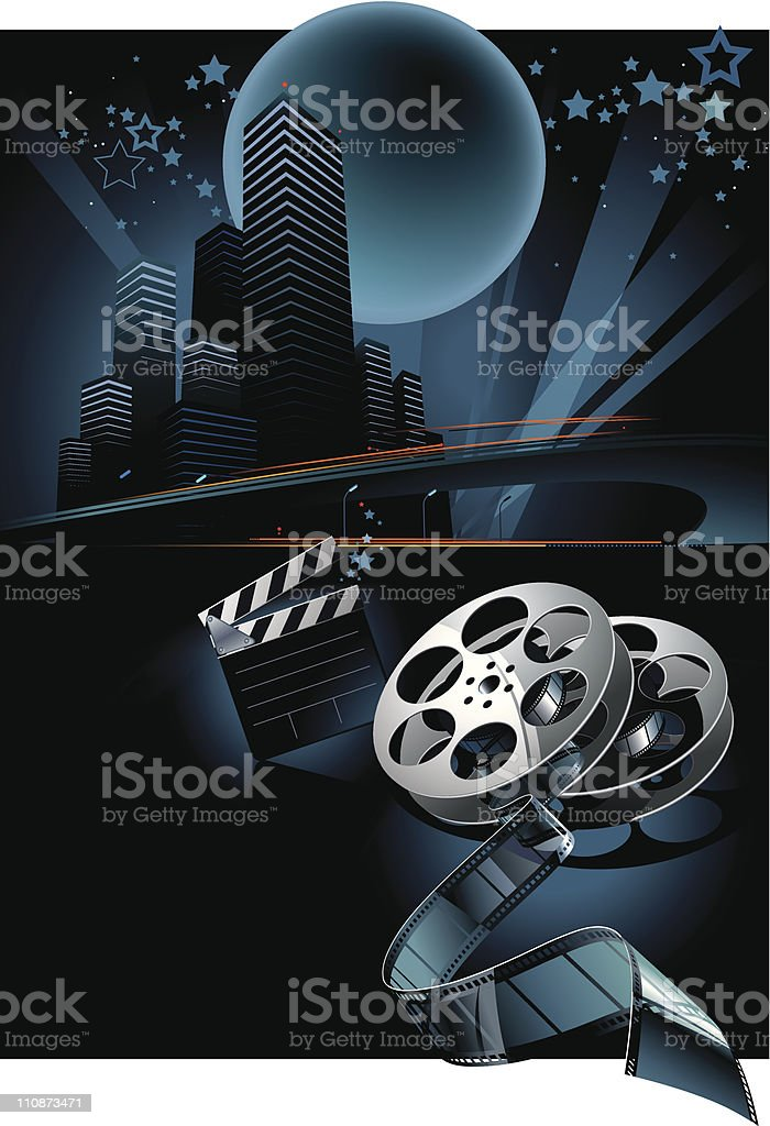 Cinema vector composition royalty-free stock vector art