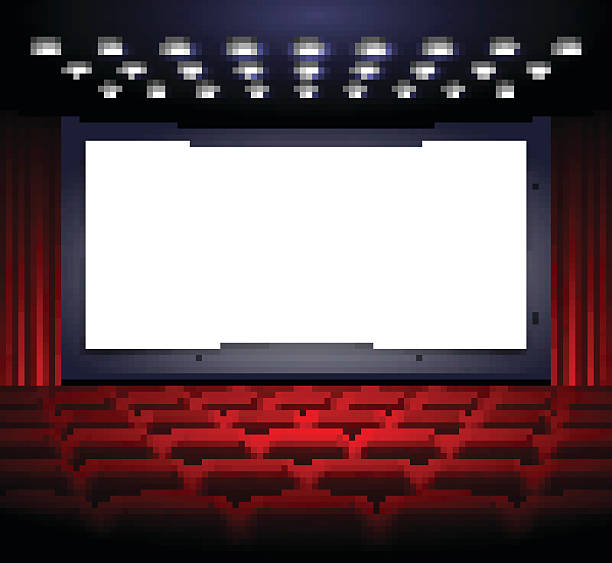 Royalty Free Movie Theater Screen Clip Art, Vector Images ...