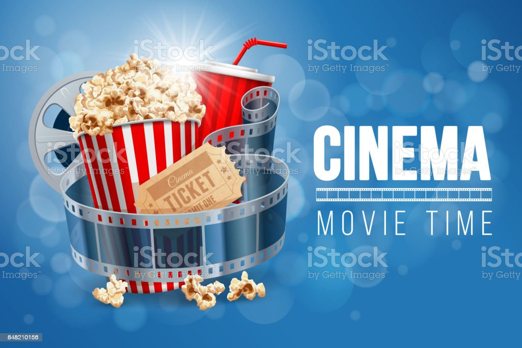 Cinema vector art illustration