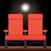 cinema with comfortable chair to watch movie