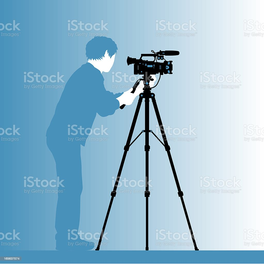 cinematographer silhouette royalty-free stock vector art