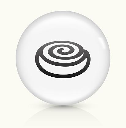 Cinnamon Bun icon on white round vector button