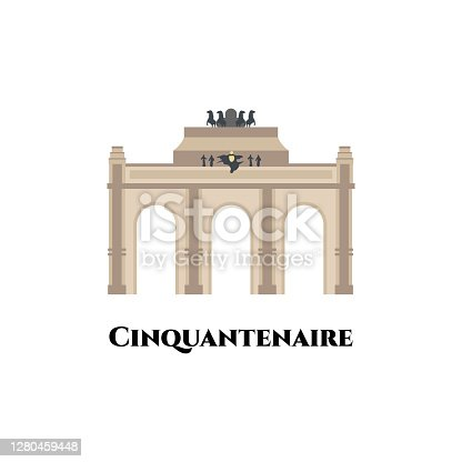 istock Cinquantenaire in Brussels. World famous landmark of Belgium. The Art & History Museum is a public museum in Brussels, Belgium. It is one of the most extensive museums. Great place for tourist visit 1280459448