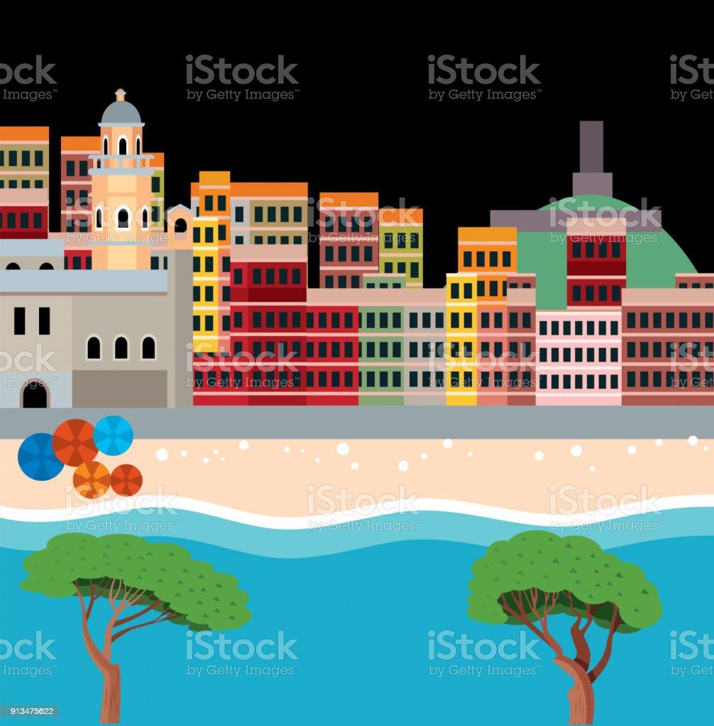 Ilustração de Cinque Terre e mais banco de imagens de Aldeia ... on