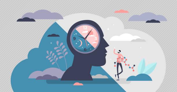 circadian rhythm concept vector illustration - rytm stock illustrations