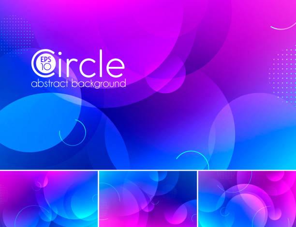 illustrazioni stock, clip art, cartoni animati e icone di tendenza di circle abstract background - magenta