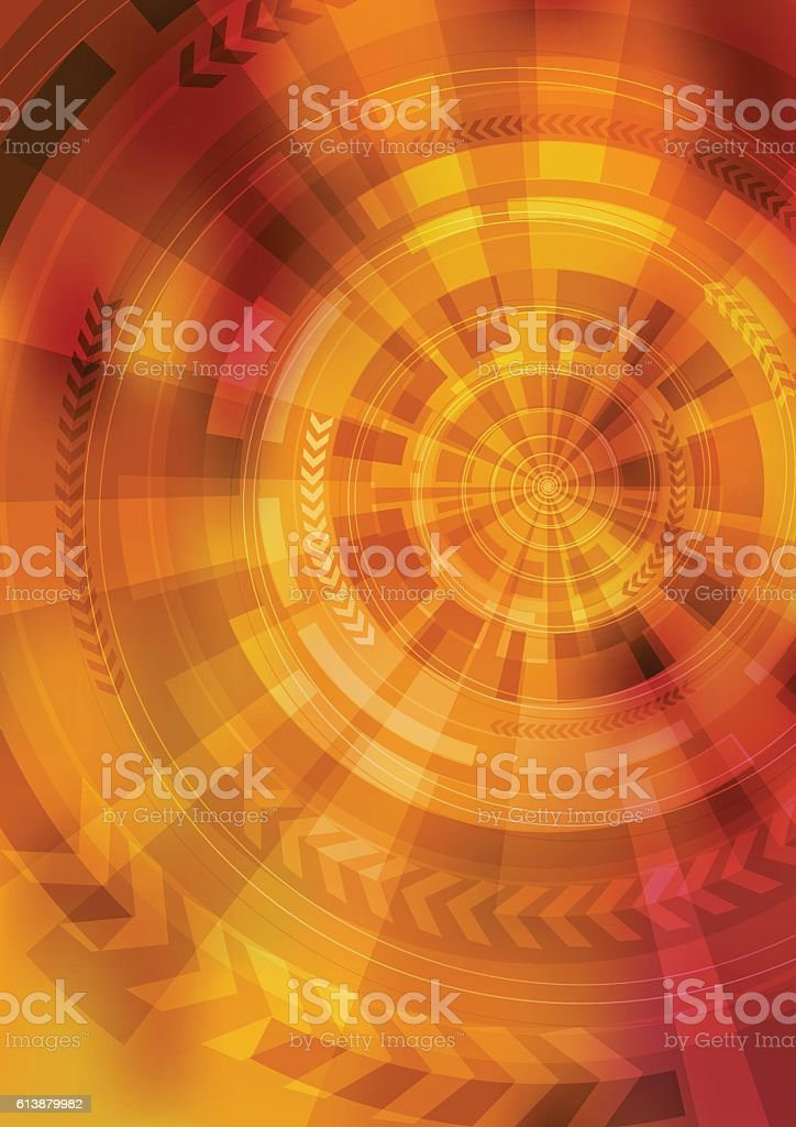 circle and arrow abstract image vector art illustration