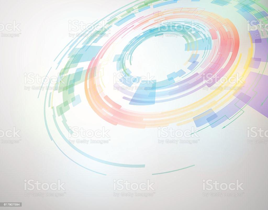circle and rotation, abstract image, vector illustration vector art illustration