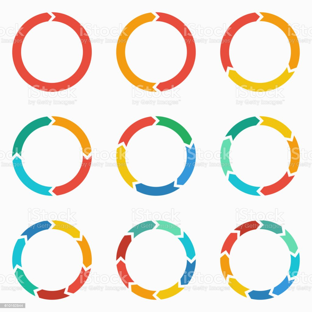 Circle arrows for infographic. vector art illustration