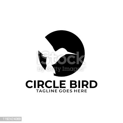 Circle Bird Illustration Vector Template. Suitable for Creative Industry, Multimedia, entertainment, Educations, Shop, and any related business.