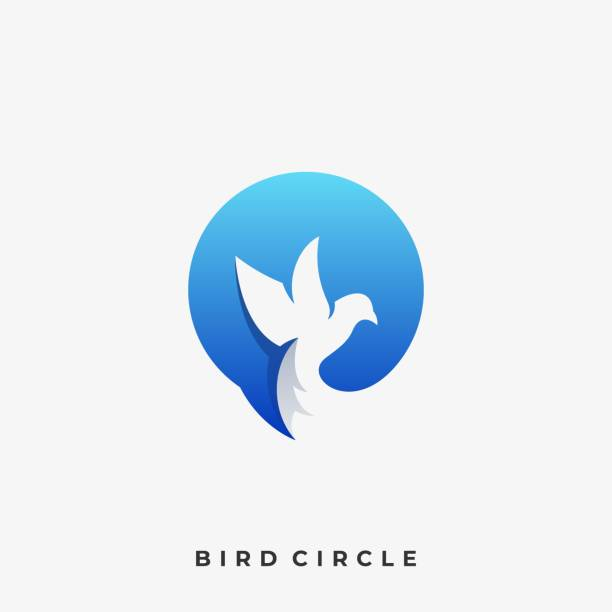 Circle Bird Illustration Vector Template Circle Bird Illustration Vector Template. Suitable for Creative Industry, Multimedia, entertainment, Educations, Shop, and any related business. idyllic stock illustrations