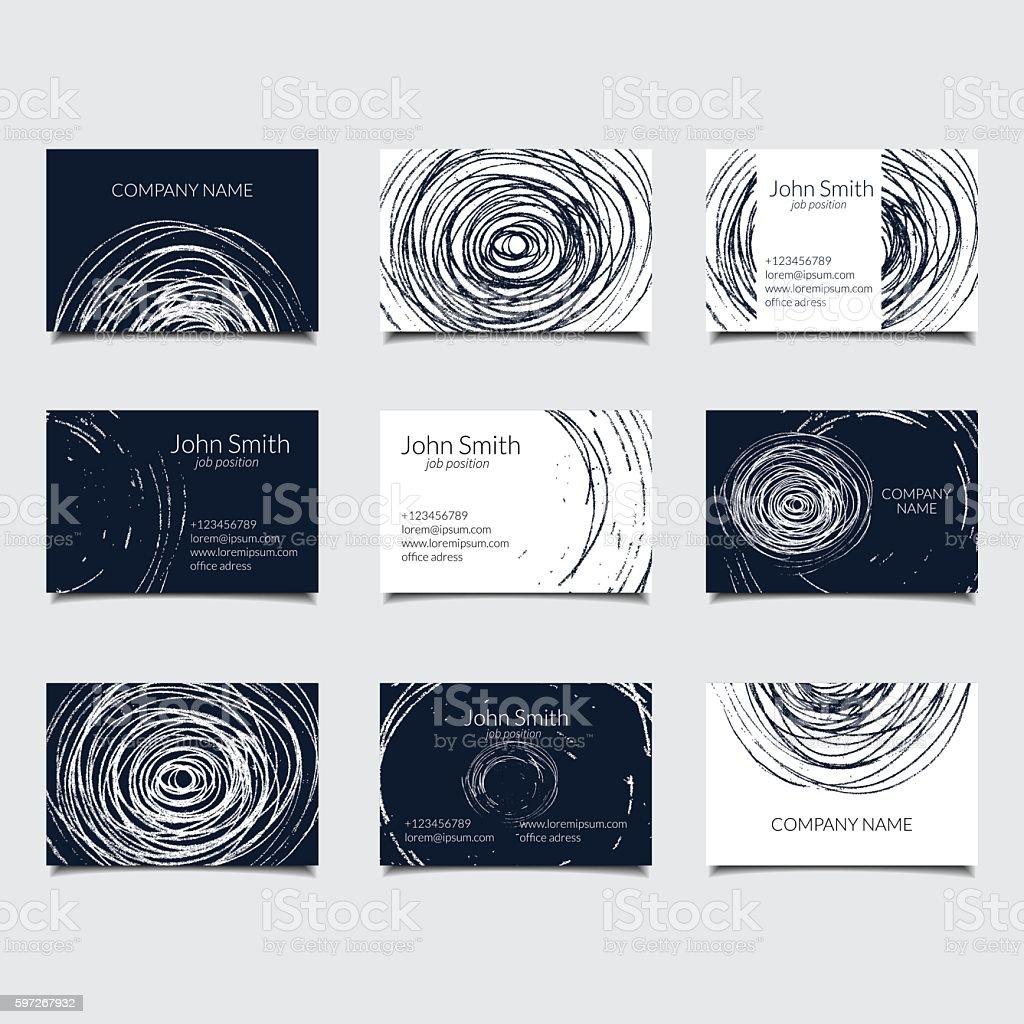 circle bisiness card royalty-free circle bisiness card stock vector art & more images of art