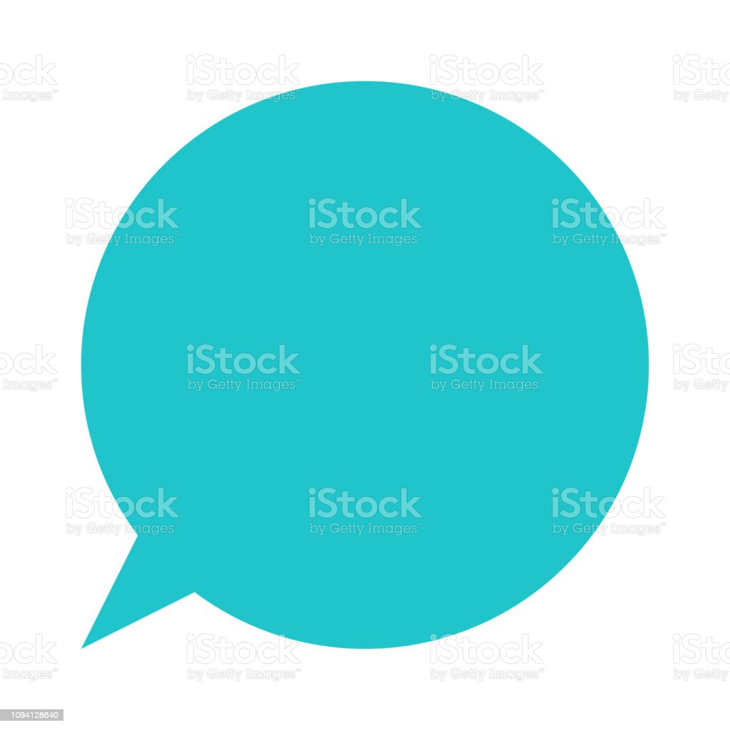 Circle Blank Speech Bubble Sign Or Empty Map Pin Icon