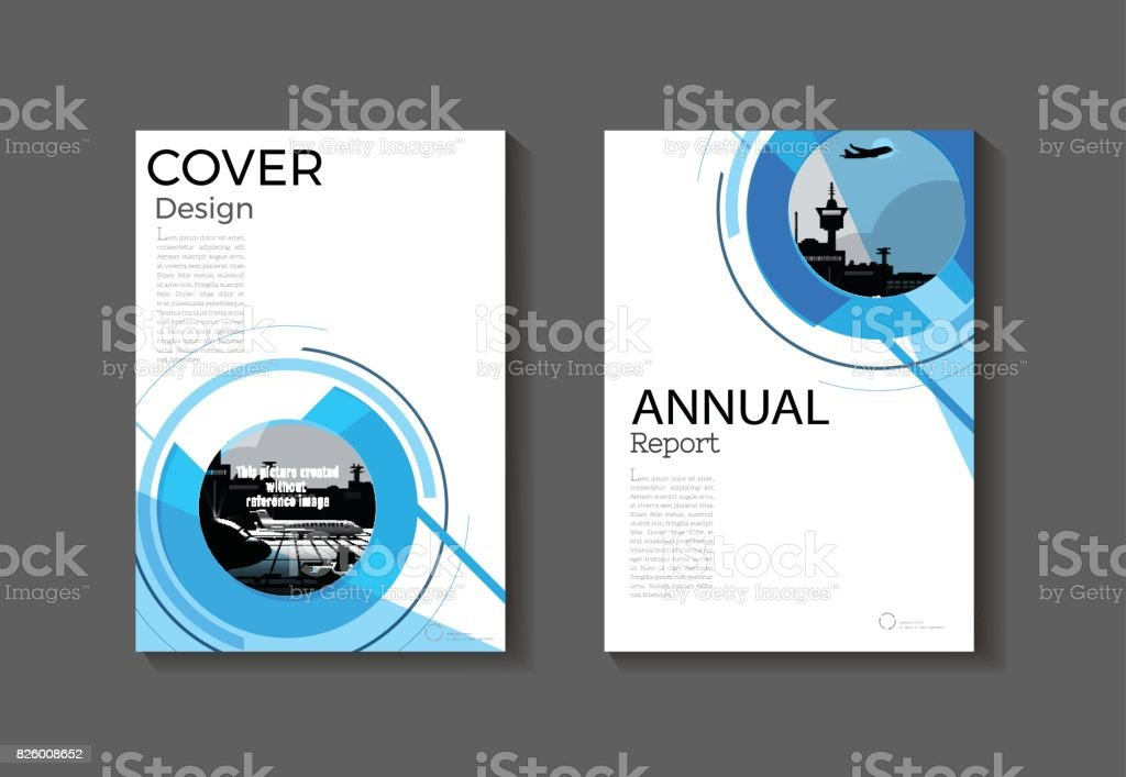 Circle Blue Cover Abstract Modern Cover Book Brochure Template