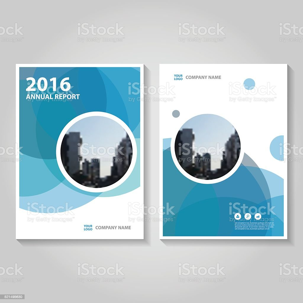 Circle Blue Vector annual report Leaflet Brochure Flyer template design vector art illustration
