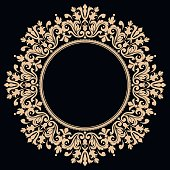 Vector illustration with an elegant Circle Filigree Ornate Curve Antique Victorian Style