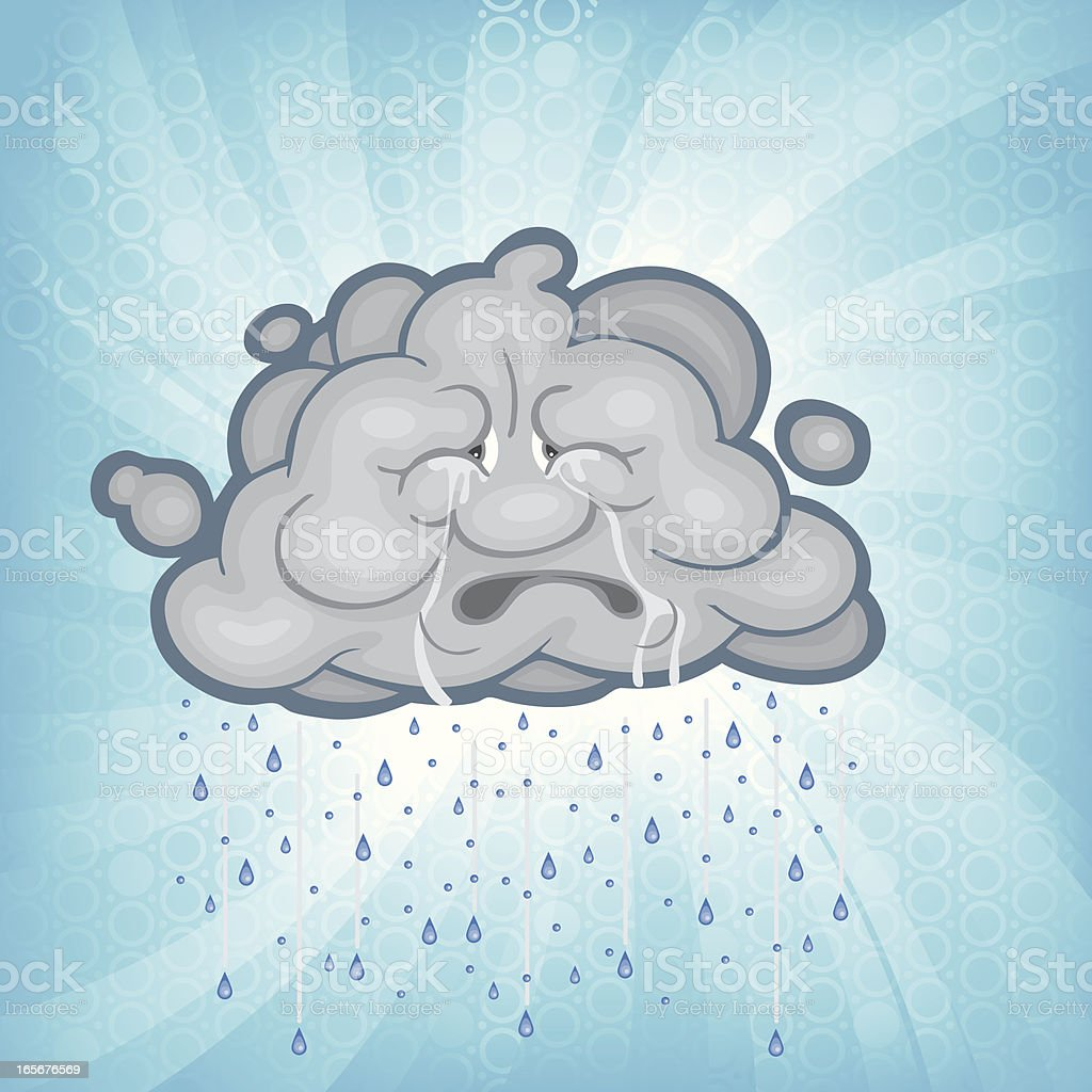 Circle Burst Rain Cloud royalty-free stock vector art