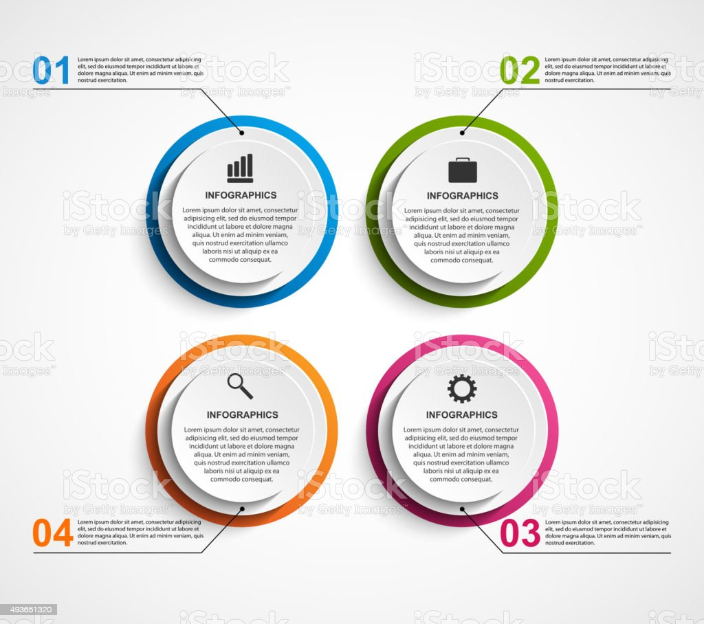 Circle business options infographics template. vector art illustration