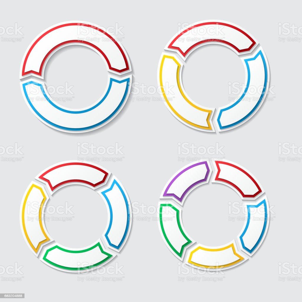 Kreis-Diagramme mit Schatten Lizenzfreies kreisdiagramme mit schatten stock vektor art und mehr bilder von abstrakt