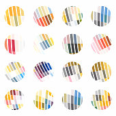 Circle checked pattern icon collection