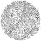 Circle Christmas balls ornament