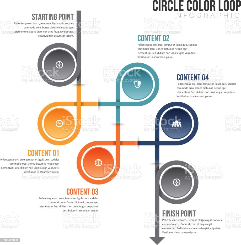 Circle color loop infographic stock vector art 639426628 istock circle color loop infographic royalty free stock vector art nvjuhfo Images
