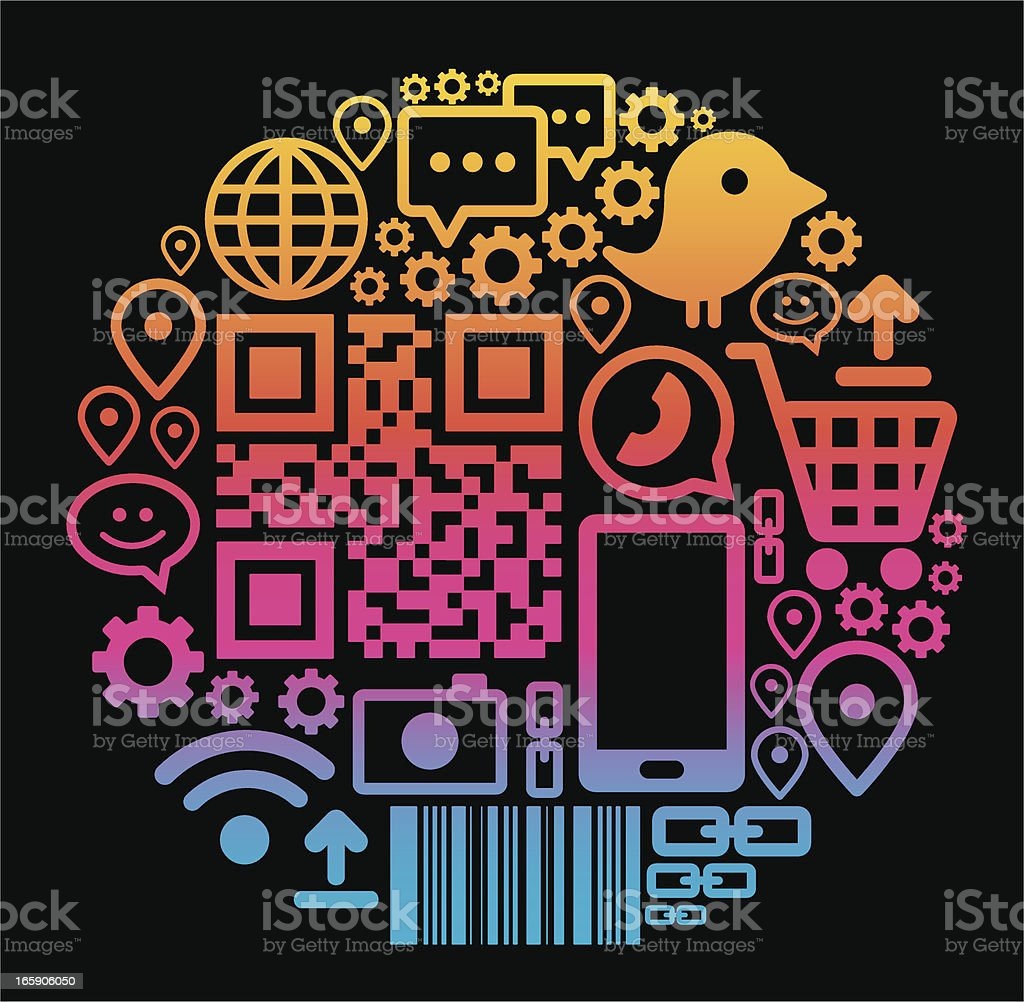 Comunications circle royalty-free stock vector art