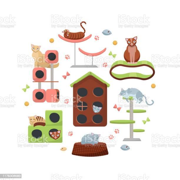 Circle composition of cats and their houses on white background vector id1176308583?b=1&k=6&m=1176308583&s=612x612&h=vrzucigeix5tdgjk1wlbcbbljgckgtwnlligi0s1b6w=